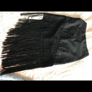 Cache pencil skirt with fringe!